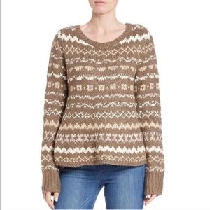 Free People Fair Isle Through The Storm Sweater